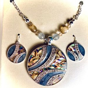Dramatic Pendant and Earring Set